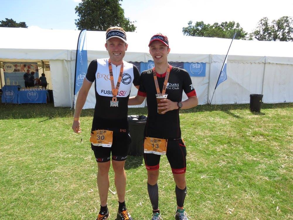 With top local triathlete Sam Begg